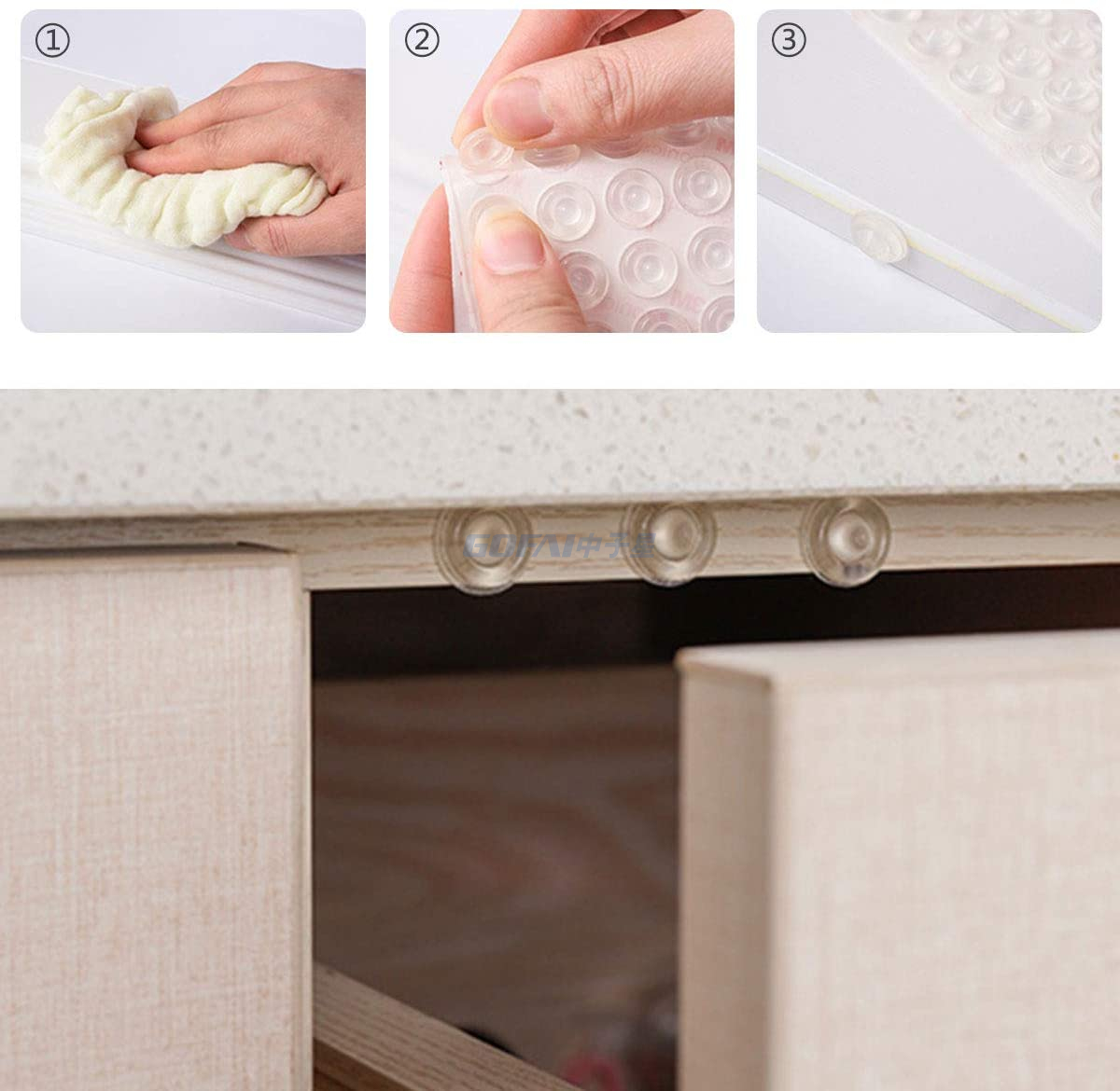 Special Shape Clear Sound Insulation Cabinet Door Self-Adhesive Bumper Foot Pad
