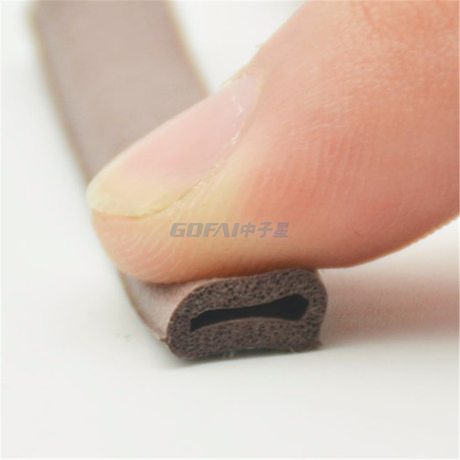 OEM Factory Wholesales P Shape D Shape Foam Epdm Rubber Seal Strips for Laminate Door