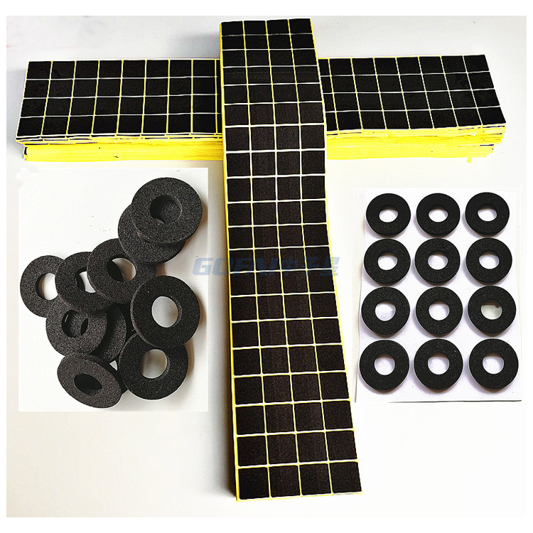 Custom Closed Cell Epdm Rubber Foame Adhesive Pads