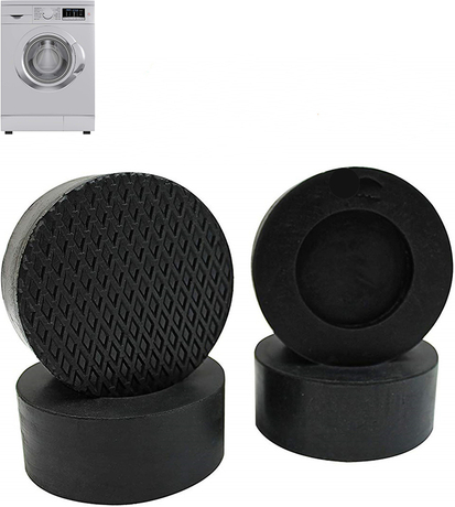 Round Black Anti-Vibration Rubber Feet Pads For Washing Machine