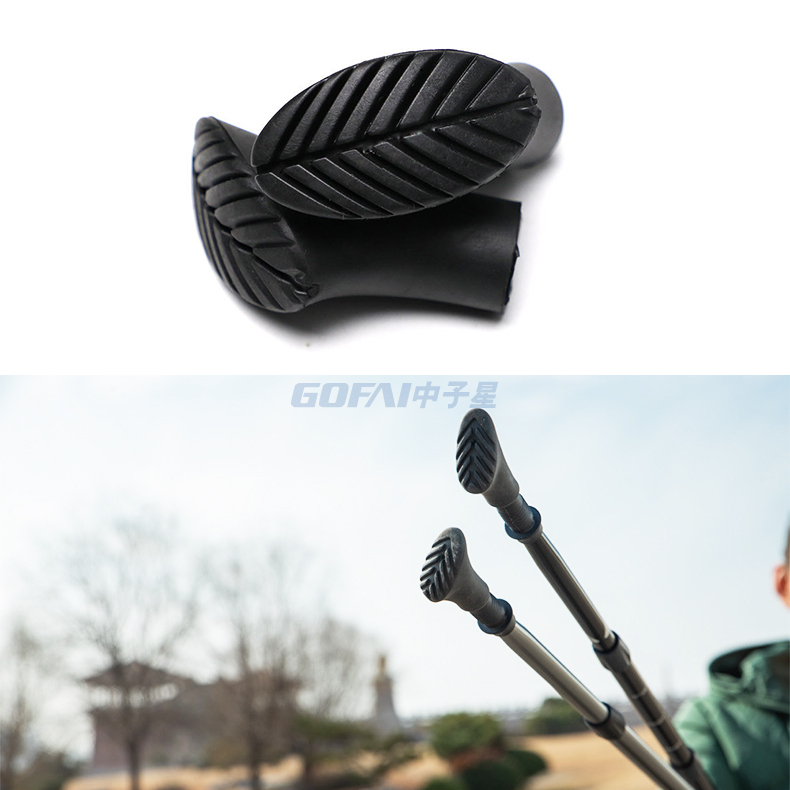 Durable Hiking Pole Protectors Set Replacement Rubber Cane Tips For Walking Stick Trekking Poles