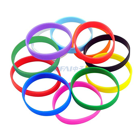 Customized Logo Basketball Advertisement Elastic Silicone Wristband Bracelet